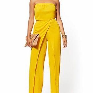 Fun Yellow Strapless Jumpsuit